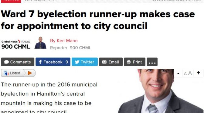 In the News – AM900 CHML – Ward 8 Candidate John-Paul Danko Makes a Case for Empty Council Seat