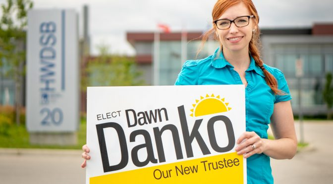 Press Release – Trustee Dawn Danko Unofficially Acclaimed to Second Term on HWDSB for Ward 7