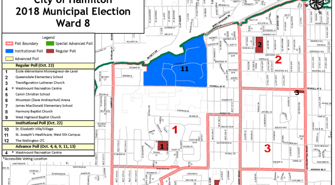 Where To Vote – 2018 City of Hamilton Municipal Election – Ward 8